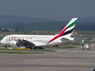 Emirates von Dubai nach Hamburg A380
