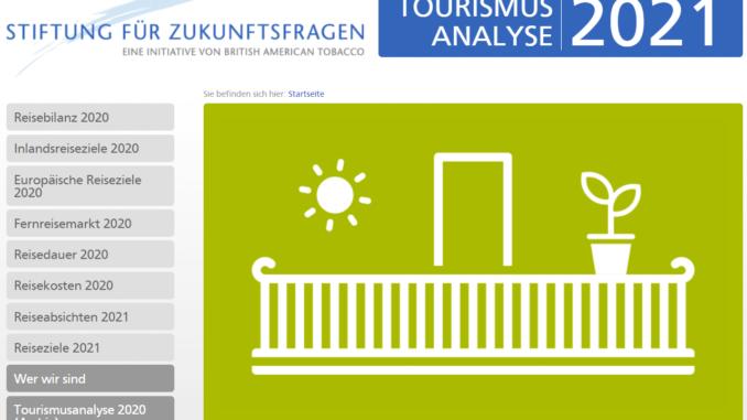 BAT-Stiftung für Zukunftsfragen: Tourismusanalyse 2021